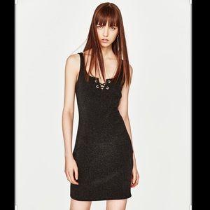 Zara sparkle dress S